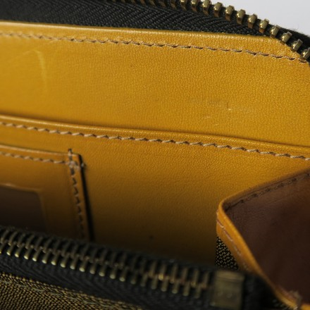 Fendi Vintage Yellow Wallet Brown/ Yellow Clutch