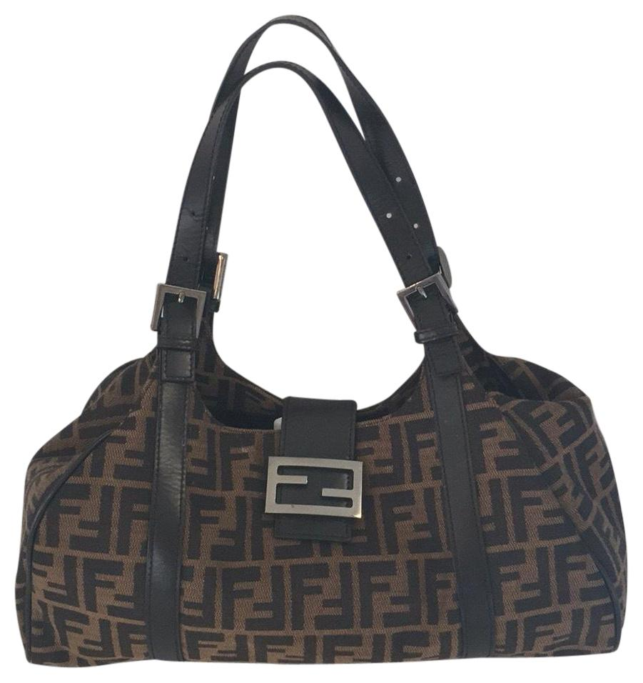 16b2d7d517e0 ... france fendi spy bag fendi zucca print brown canvas and leather  shoulder bag tradesy 1537e cb171 ...