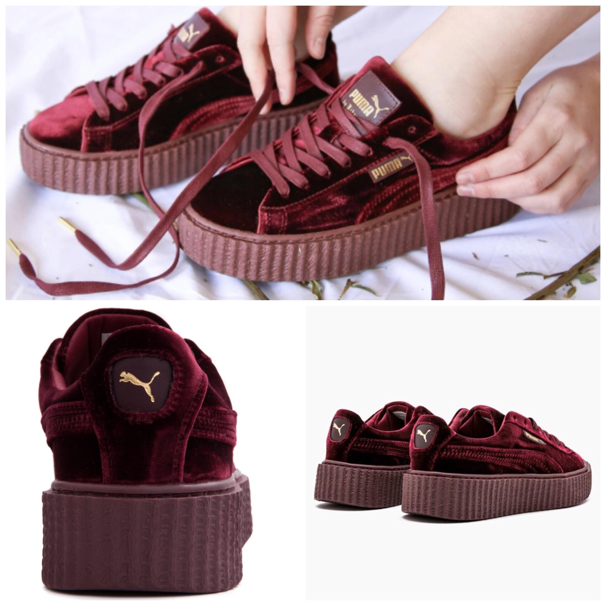 new arrival e3f87 d4a3a Sneakers Us Rihanna Velvet Size Puma Creeper Purple By Royal ...