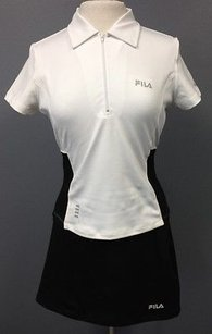 Fila Fila Pc Athletic Outfit Black White Polo And Black Unlined Skirt 1848 A