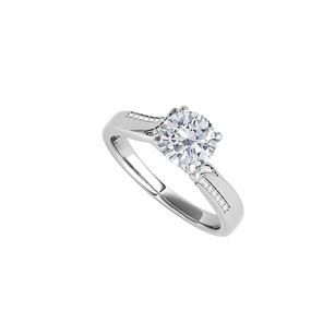 Fine Jewelry Vault Fab Cubic Zirconia Engagement Ring in 14K White Gold
