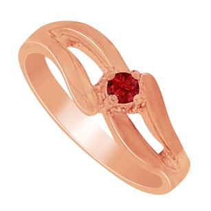 Fine Jewelry Vault Gorgeous Gifting Ruby Mother Ring In 14k Rose Gold