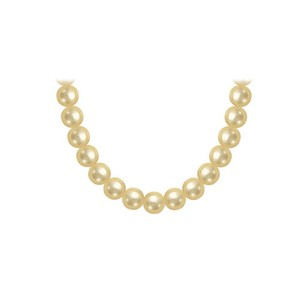 Fine Jewelry Vault South Sea Pearl Necklace 18K Yellow Gold 10.00 12.00 MM