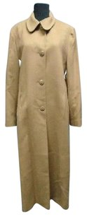 Fleurette Lined Solid Long Button Down Smooth 6372a Trench Coat