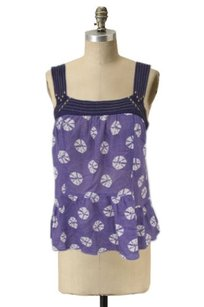 Floreat Anthropologie Purple Top Purple,black