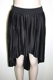 Forever 21 21 Pleated High Low Asymmetrical Skirt Black
