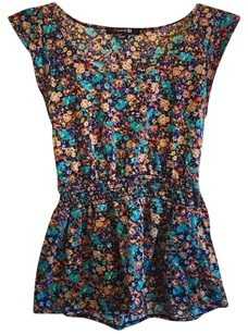 Forever 21 Cinched Waist Top floral