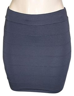 Forever 21 Xxi 21 Dark Bodycon Curve Hugging Bandage Mini Jr Mini Skirt Gray