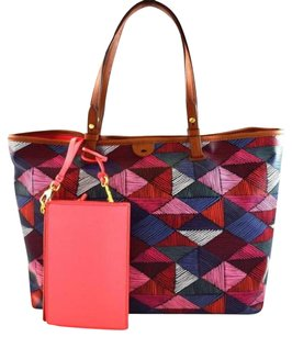Fossil Rachel Red Tote in Pink