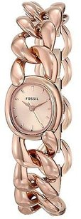 Fossil Fossil Curator Rose Gold-tone Chain Link Ladies Watch Es3459