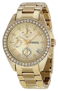 Fossil FOSSIL Decker Chronograph Champagne Dial Gold-tone Ladies Watch FSES2683