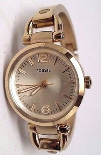 Fossil Fossil Es3270 Womens Georgia Gold Bangle Bracelet Watch
