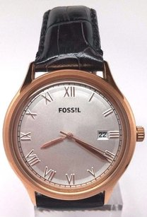 Fossil Fossil Fs4743 Mens Ansel Vintage Rose Gold Tone Leather Band Watch