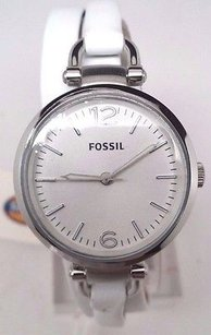 Fossil Fossil Georgia Stainless Steel Leather Ladies Watch Es3246 Rip On Band