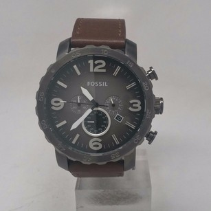 Fossil Fossil Mens Nate Jr1424 Brown Leather Quartz Watch Doesnt Work