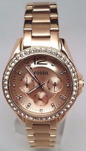 Fossil Fossil Riley Multifunction Rose Gold-plated Ladies Watch Es2811 Fits A 6.5..