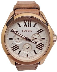 Fossil Fossil Watch Am4532 Rose Gold Case 40mm Cecile Sand Leather