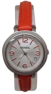 Fossil Fossil Womens Heather Three-hand Leather Watch - Orange Es3332