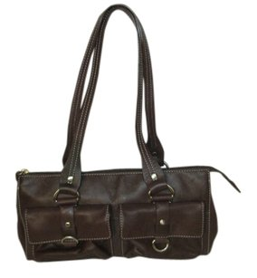 Fossil Leather Monogram Shoulder Bag