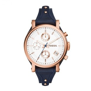 Fossil New! Fossil Women's Original Boyfriend Chronograph Leather Watch