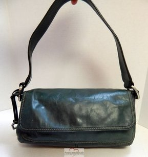 Fossil Teal Leather Flap Shoulder Bag