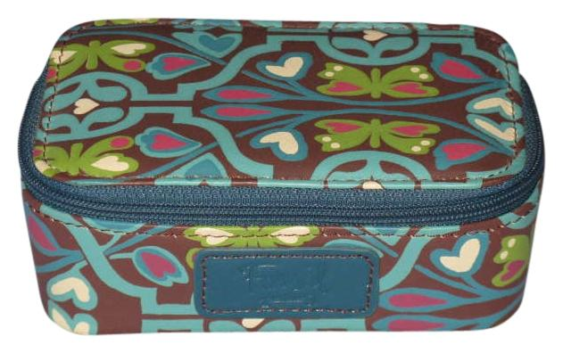 Fossil Teal Leather Jewelry Box New Tradesy