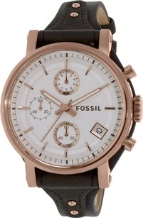 Fossil Women,s Grey Leather Quartz Watch