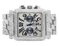 Franck Muller Mens Franck Muller King Conquistador Cortez Iced Out Diamond Watch 31.50 Ct