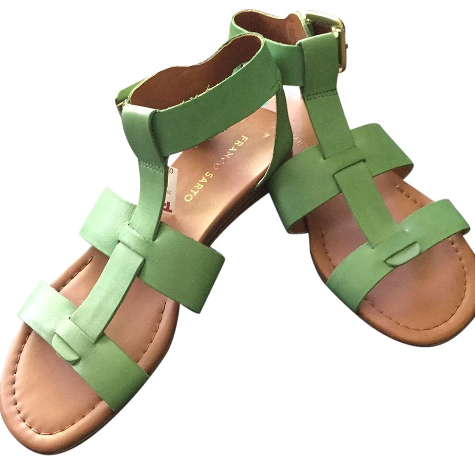 eedee9d95c7d Franco Sarto Green Gwyneth Strappy Sandals Size US 8 8 8 Regular (M ...
