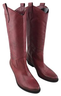 Franco Sarto Distressed Red Boots