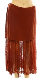 Free People 50-100 A-line Color-red Skirt
