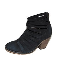 Free People Hybrid Strappy Bootie Soft Black Boots