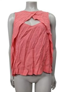 Free People People Keyhole Bust Layer Overlay Top Pink
