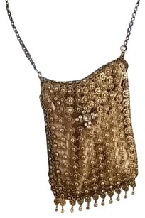 Free People Gold And Silver Clutch