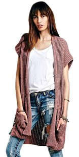 Free People Cover-up Dusty Drapey Stretchy Cardigan