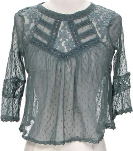 Free People Cropped Lace Top Willow