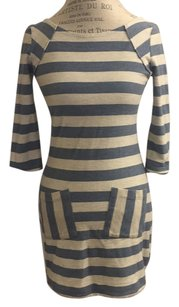 Free People short dress White and blue stripes on Tradesy