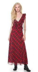 Red White Black Maxi Dress by Free People Venetia Scarlett