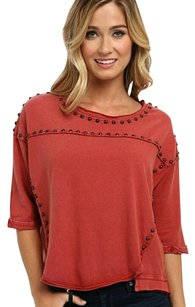 Free People Fp T Shirt Rust/Red