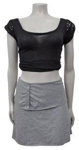 Free People Stretch Jersey Skirt Gray