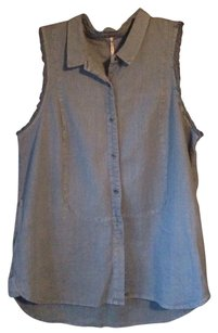 Free People Top Chambray blue