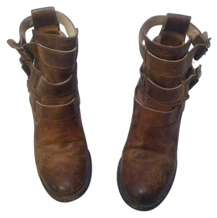 freebird rolling buckle leather size 8 brown boots on sale