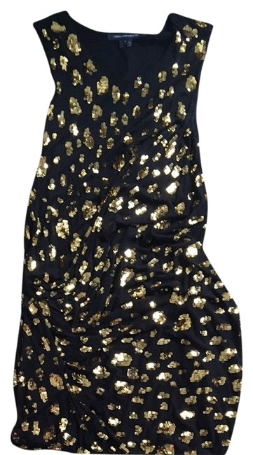 Preload https://item3.tradesy.com/images/french-connection-blackgold-night-out-dress-size-6-s-3413602-0-0.jpg?width=400&height=650