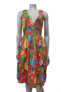 French Connection short dress Vibrant Pink Maggie Lou Cross Back In Floral on Tradesy