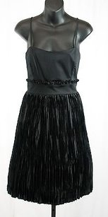 French Connection short dress Black Flare Pleated Cocktail on Tradesy