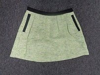 French Connection Woven Zipper Sma6118 Mini Skirt Green And Black