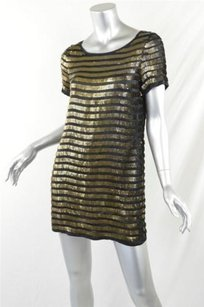 French Connection short dress Multi-Color Womens Black Pewter Sequin Mini on Tradesy