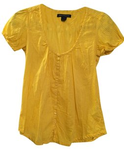 French Connection Top Yellow