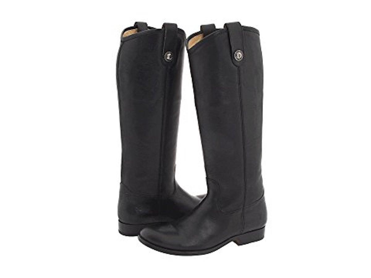 Frye Black Melissa Riding Extended Calf Boots/Booties Size US 6.5 Regular (M, B)