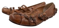 Frye Boots Womens Distressed Strappy 8b Casual Brown Flats